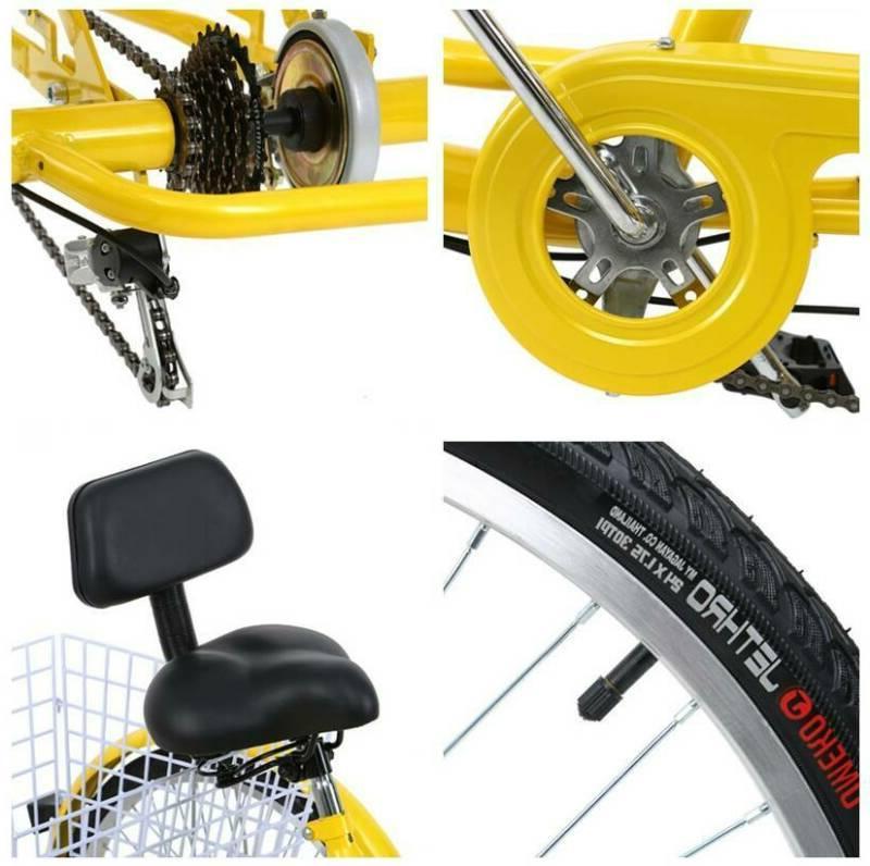 """26"""" Tricycle Speed 3-Wheel For Shopping Optional Ridgeyard"""