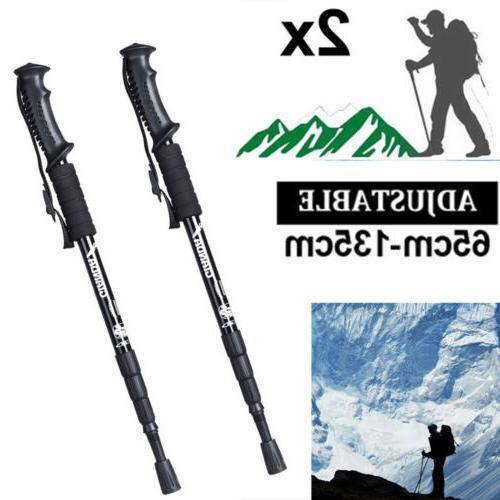 2pc 135cm trekking poles walking hiking sticks