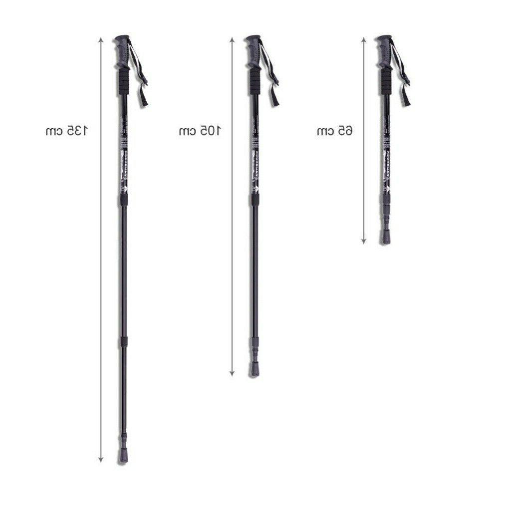 2PCS Walking Sticks Adjustable Anti-shock