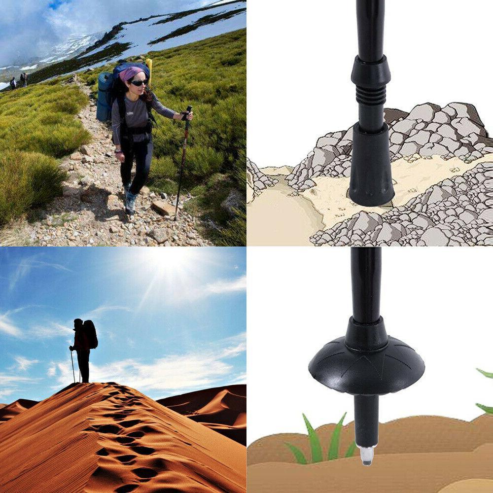 2PCS Trekking Sticks Poles Alpenstock Anti-shock