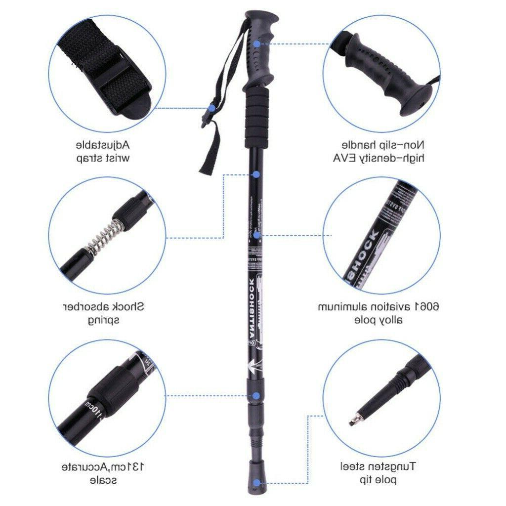 2PCS Trekking Sticks Poles Anti-shock