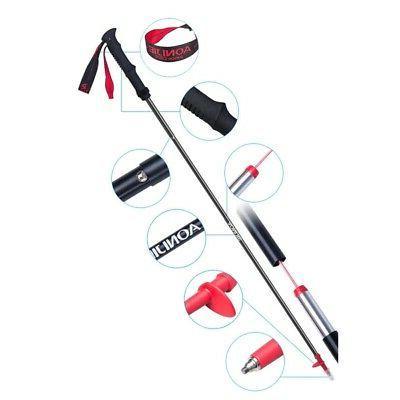 2X(AONIJIE Tri-Fold Poles Ultralight Lock Pole