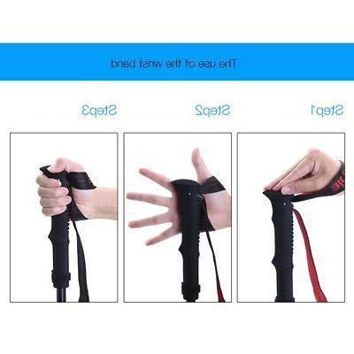 2X(AONIJIE Folding Poles Lock Hiking Pole Walk