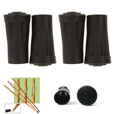 4 Reinforced Rubber Tip End Cap Hammers Trekking Pole Hiking