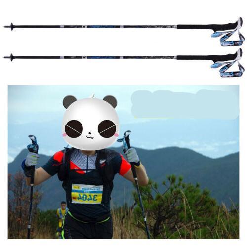 4section carbon fiber hiking climbing trekking pole