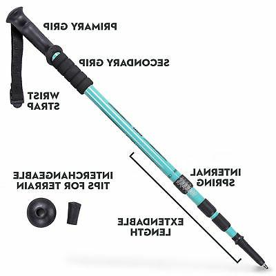 53 Inch Aluminum Trekking Pole Collapsible and Stick