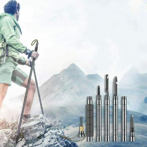 "56"" Trekking Hiking Poles Multitool"