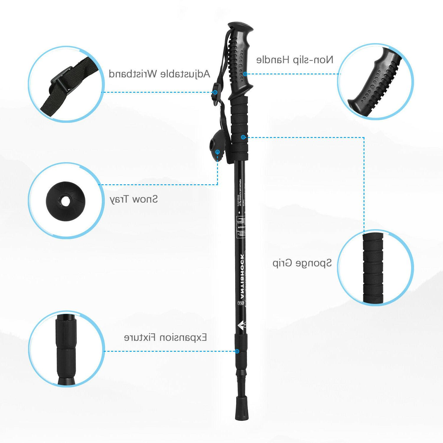 Trekking Hiking Poles Section Adjustable