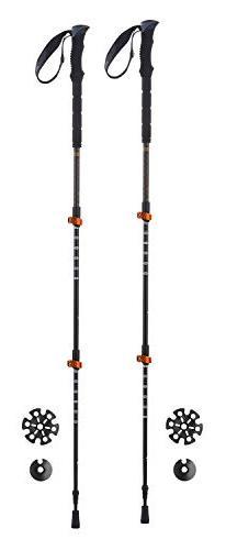 Ferrino 78376HCC Trekking Poles, Black, 60-135