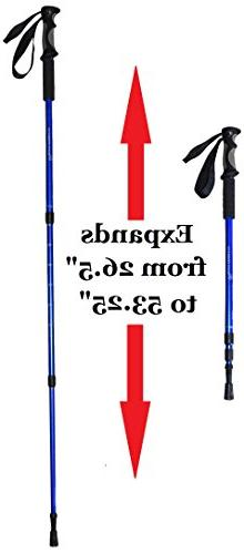 BAFX 2 Pack - Hiking / Walking Trekking Poles 1 Blue