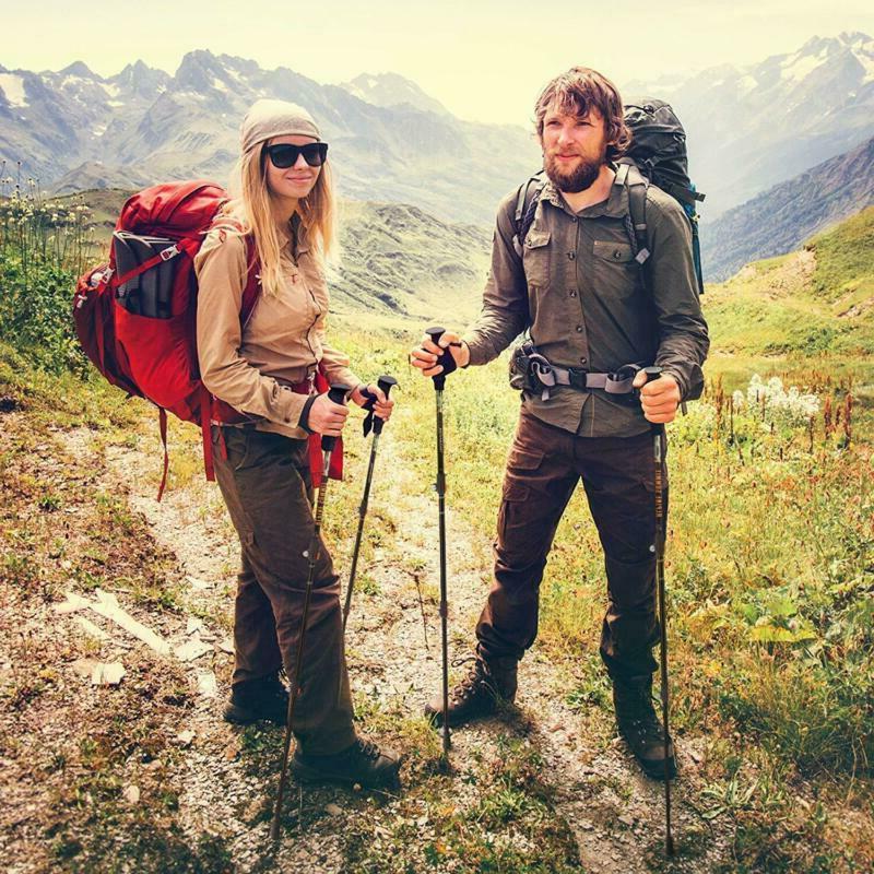 Alpine Trekking Collapsible Hiking Walking Sticks,