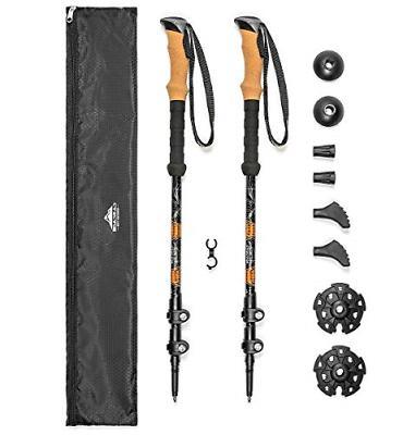Cascade Mountain Tech Aluminum Adjustable Trekking Poles 2 P