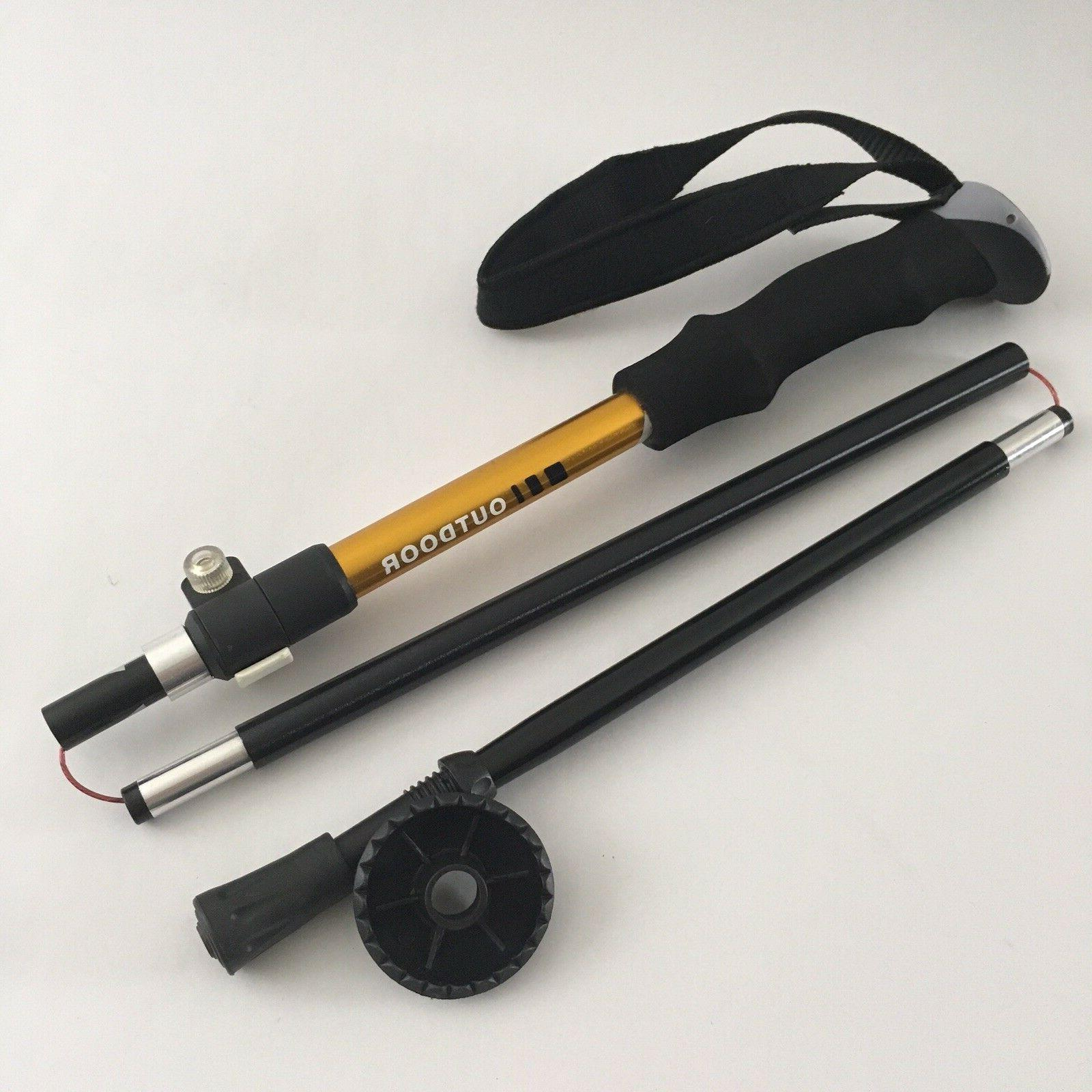 aluminum collapsible trekking poles for camping