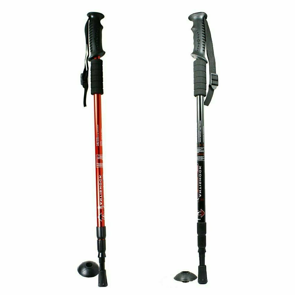 anti shock walking hiking stick 3 section
