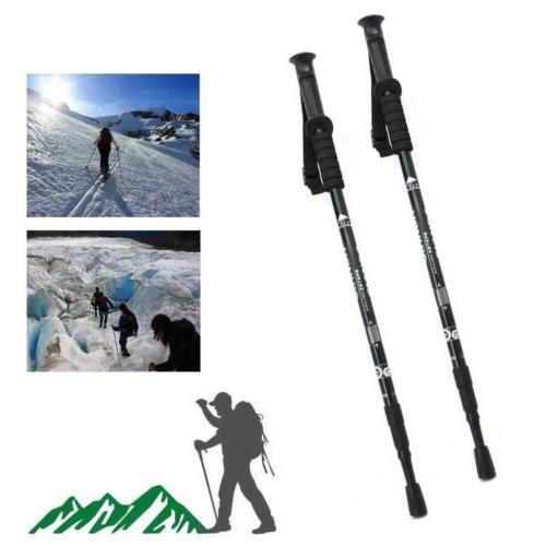 Pair Walking Hiking Sticks Adjustable anti-shock