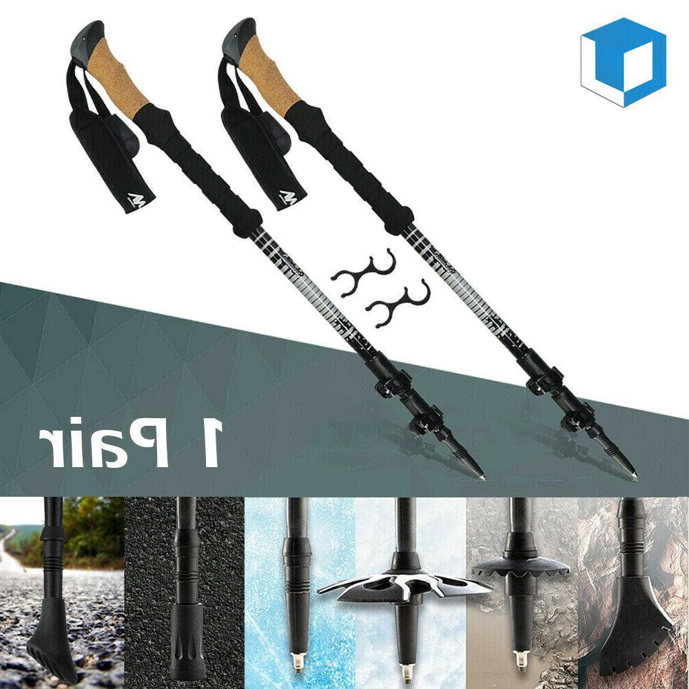 carbon fiber alloy trekking poles ultralight collapsible
