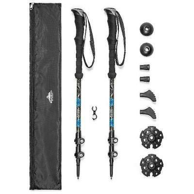 carbon fiber quick lock eva grip trekking