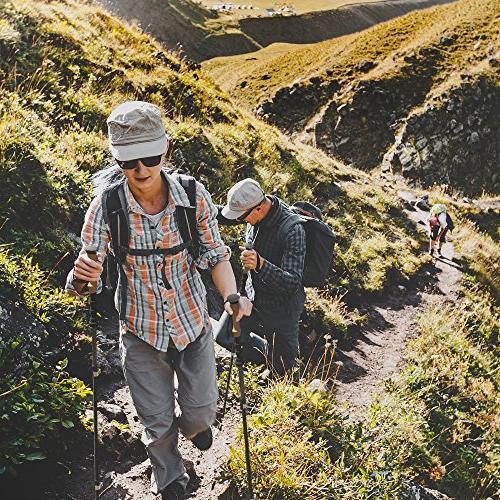 Alpine Fiber Grips -2 pc/Pair- Collapsible Hiking/Walking Sticks
