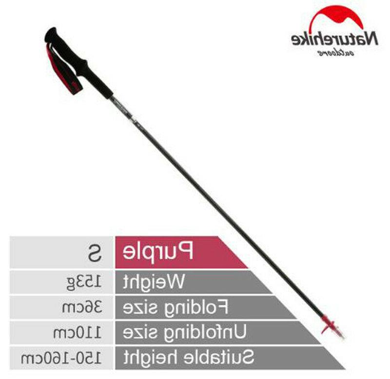 Naturehike Walking Sticks Trekking Poles 4-sections Adjustab