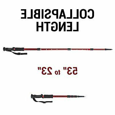 Crown Sporting Goods Shock-Resistant Adjustable Trekking Pole Hiking Staff