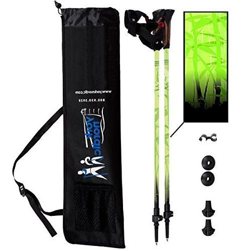 green zen trekking walking poles