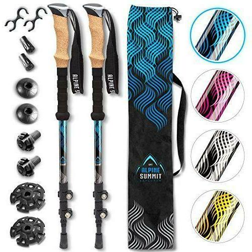 hiking trekking poles with quick locks walking