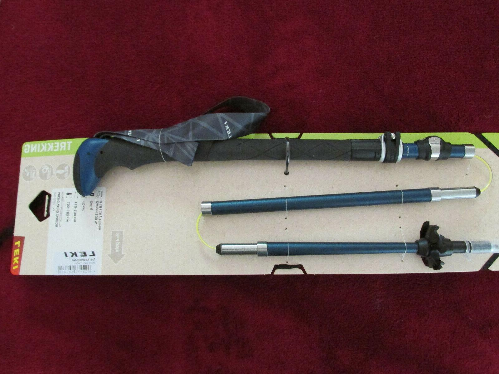 micro vario carbon trekking hiking poles 110