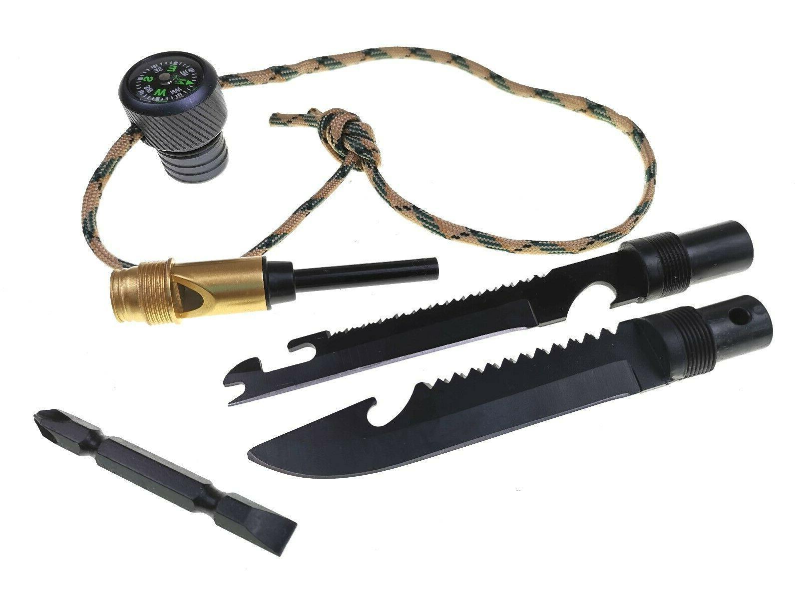 Multi-Function Walking Trekking Pole Defense Stick Screwdriver