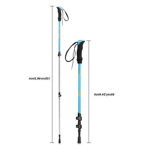 New Pair 2 Trekking Walking Hiking Sticks Poles Alpenstock