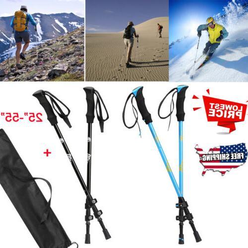 new pair 2 trekking walking hiking sticks