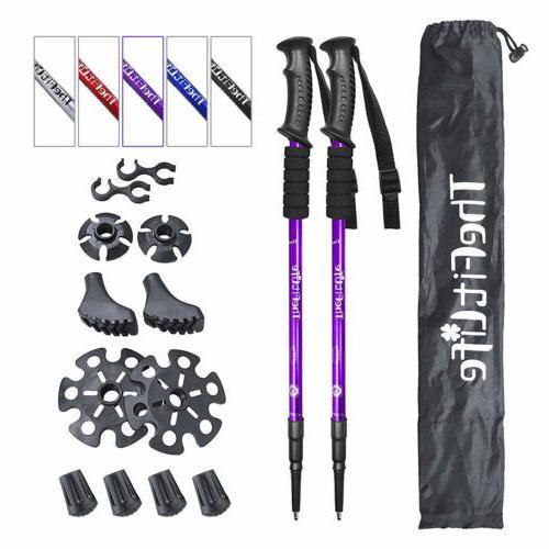 TheFitLife Nordic Walking Trekking Poles - 2 Packs with Anti