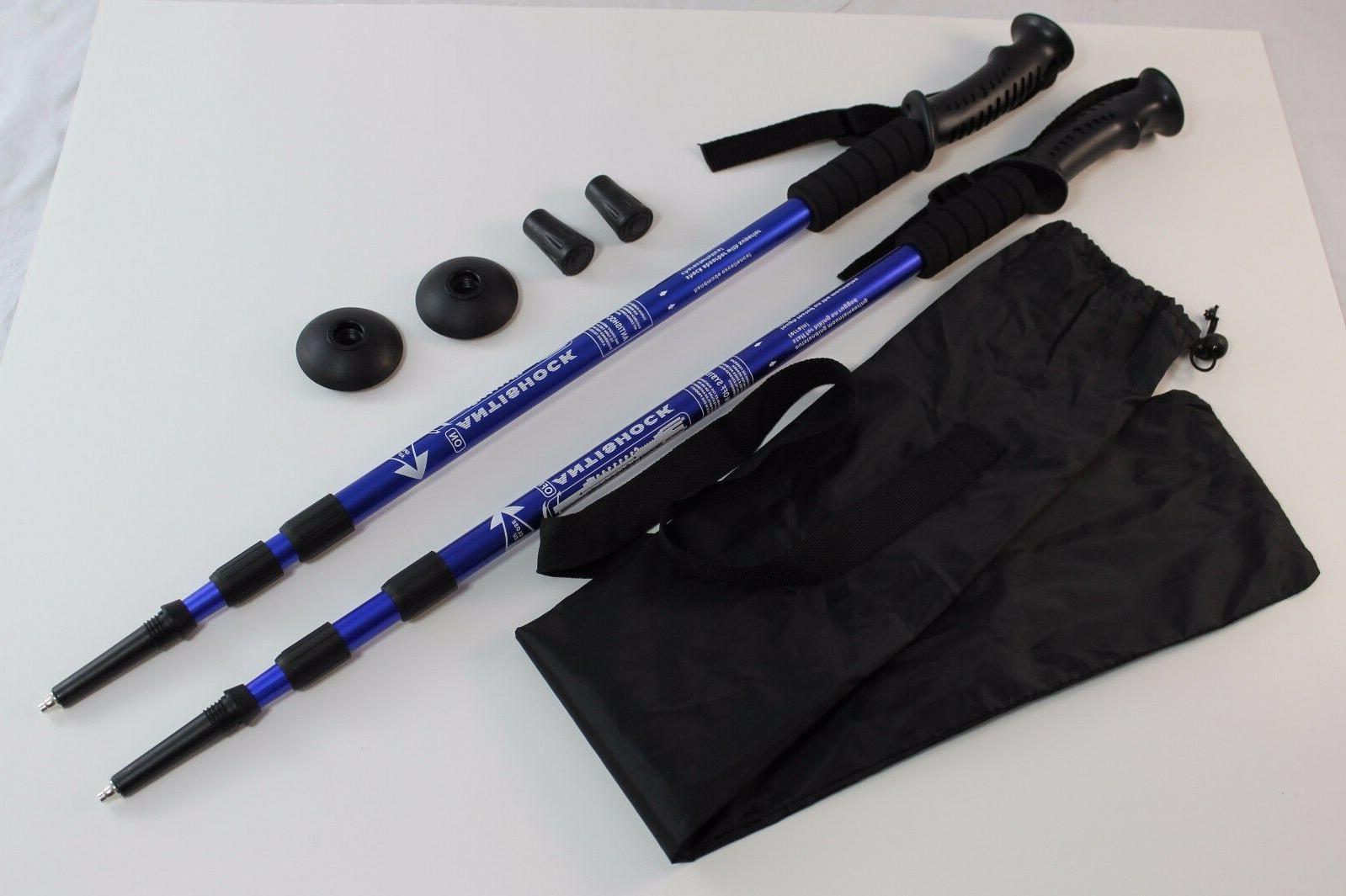 one pair trekking walking hiking sticks poles