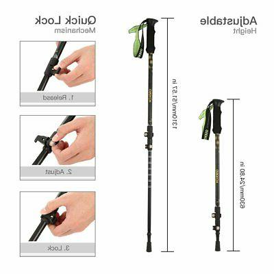 Pair Walking Hiking Anti-Shock Adjustable