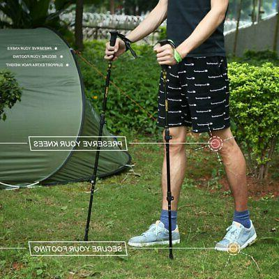 Pair Trekking Hiking Sticks Anti-Shock