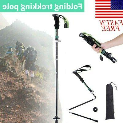 pair 2 trekking walking hiking sticks poles