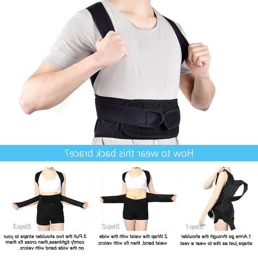 Adjustable Posture Shoulder Corrector Support Belt Therapy Men