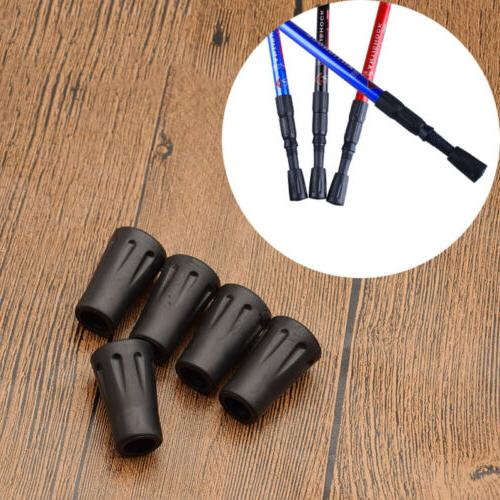 5 Pcs Replacement Rubber Tips End for Walking Trekking Poles