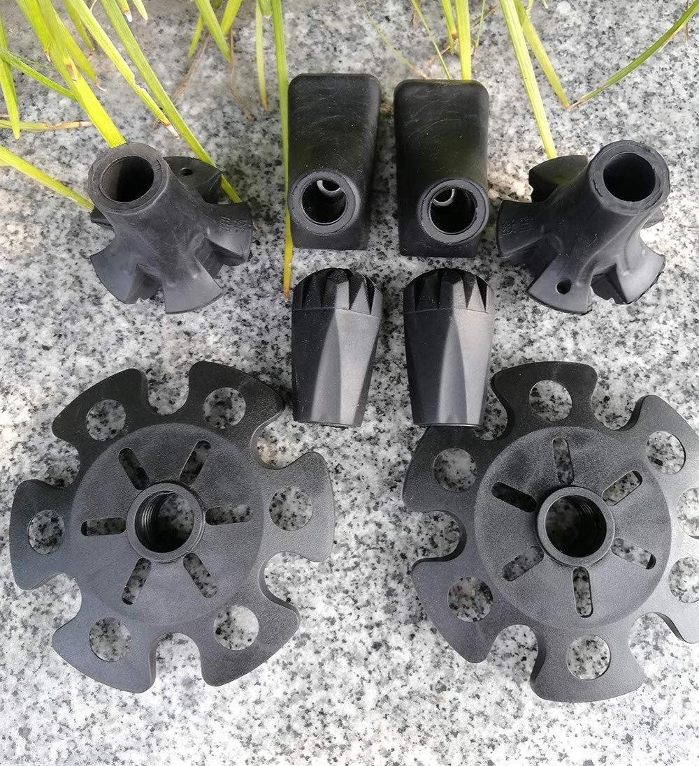 Replacement Rubber Set for <font><b>Trekking</b></font> <font><b>Poles</b></font>-4 Pairs Style Feet Sticks Canes