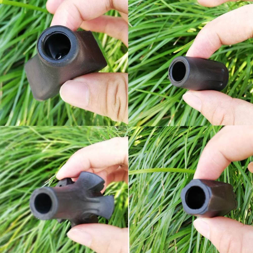 Replacement Rubber Tips for <font><b>Trekking</b></font> Style Heavy-Duty Sticks Canes