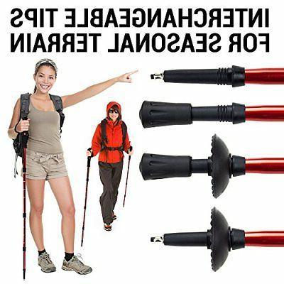 "2-pack Shock-Resistant Poles Hiking Staffs 43"""
