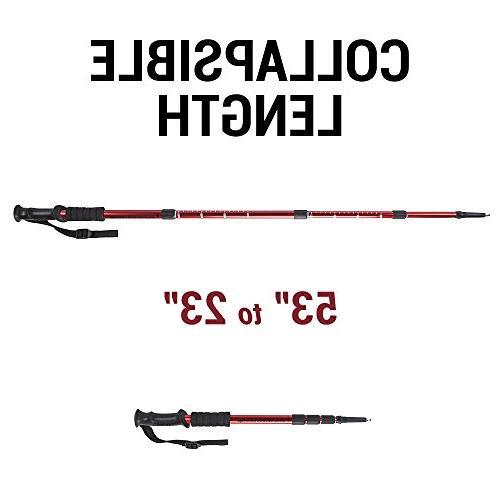 Crown Adjustable Pole Hiking Staff , 43-Inch