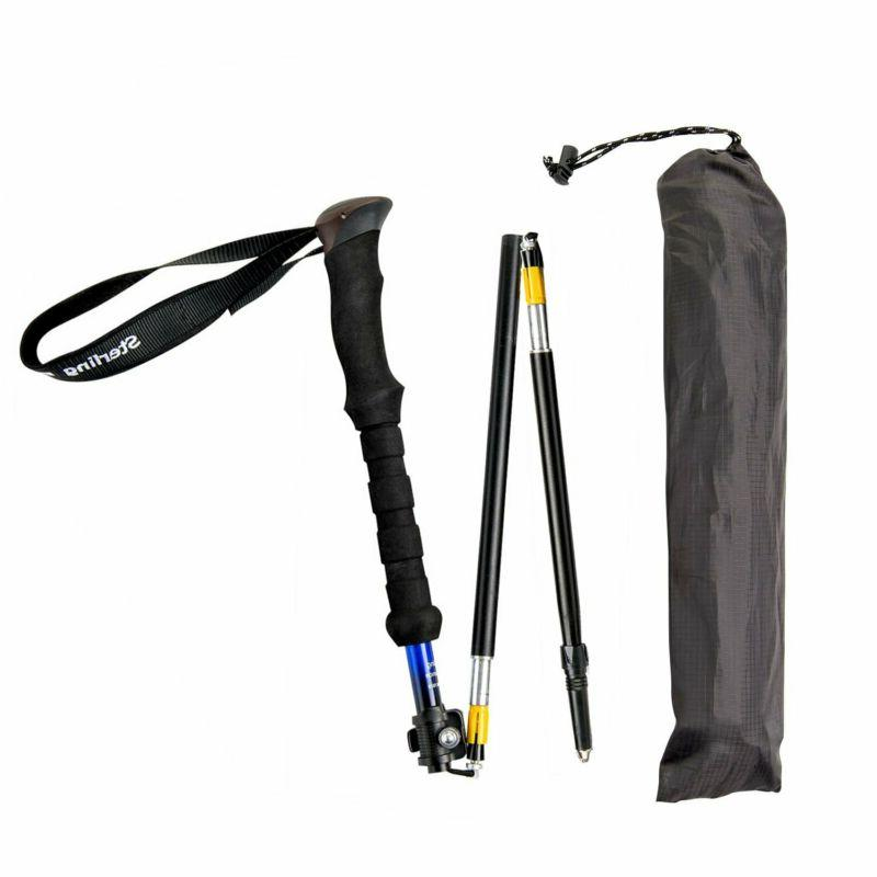 "Sterling Endurance Trekking Poles/Collapsible To 1/2"" Hiki"