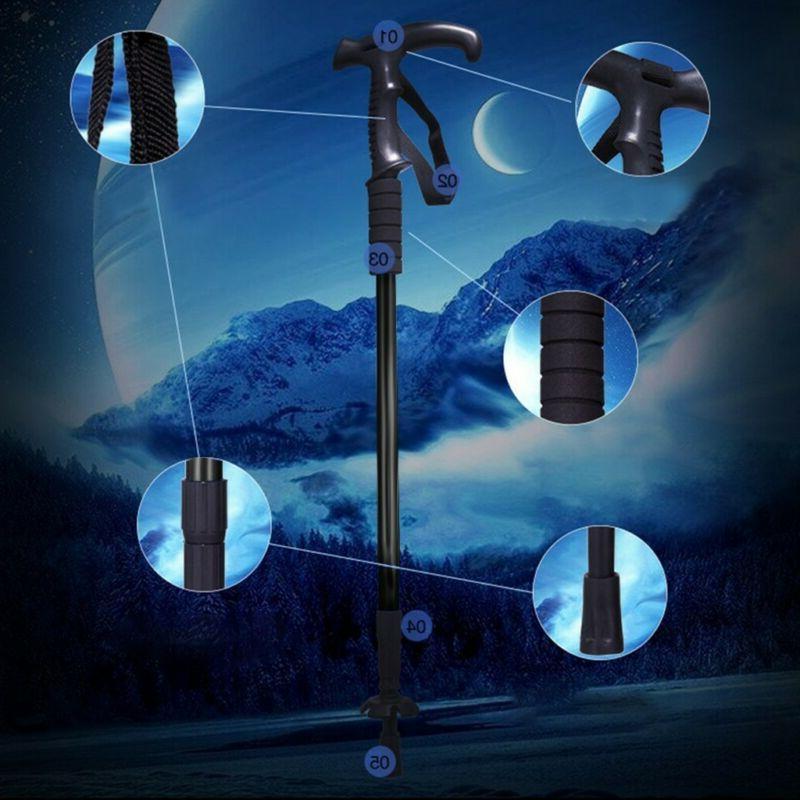 2PCS Trekking Hiking Pole Adjustable Length Anti-Shock