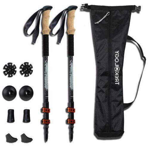 trek y collapsible adjustable trekking poles 2pc