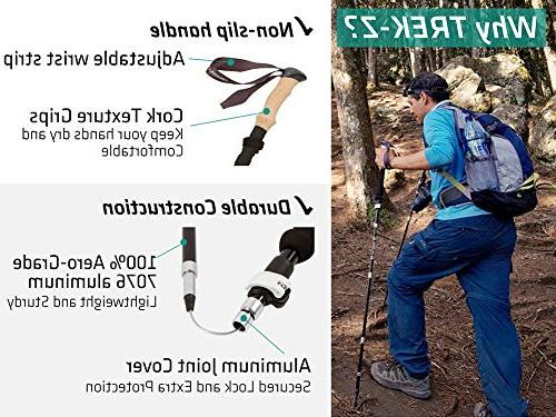 Trekology Trekking Hiking Collapsible Strong Quick Foldable Poles