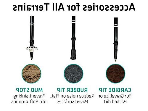 Trekology Trek-Z Poles - 2pc Collapsible Sticks, Strong 7075,Adjustable Quick Tri-Fold