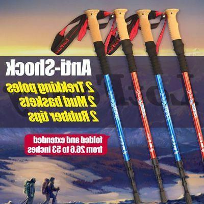 trekking hiking walking sticks poles for men