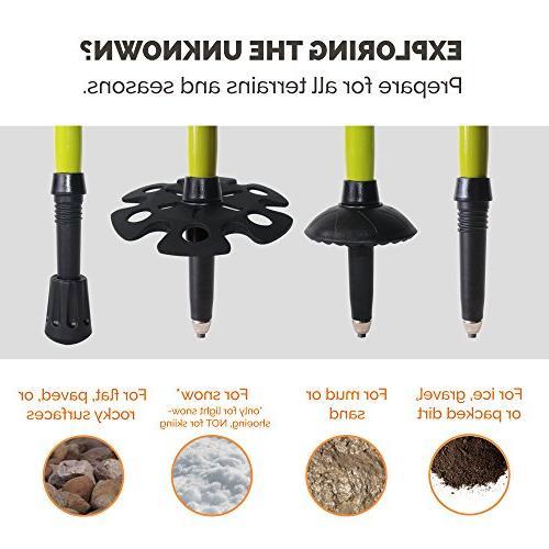 TrailBuddy Trekking 2-pc Adjustable or Sticks Strong, Lightweight - Quick Adjust Flip-Lock - Cork Grip, Strap Accessories
