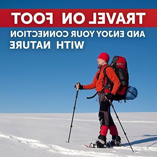 Trekking Poles for Women Kit - 100% Carbon Walking Sticks Collapsible - Shock-Absorbent Natural – Mountaining Walking Hiking