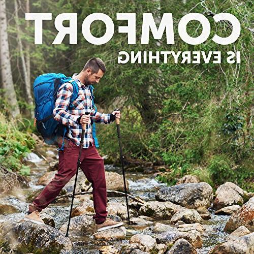 Trekking Women Full Kit - 100% Carbon Sticks Collapsible - Shock-Absorbent - Comfortable Natural Cork Grips – Mountaining Walking for Hiking